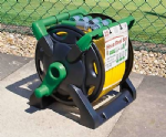 UK Made Thru Feed Hose Reel 25 metre Hose & Fittings. X7082